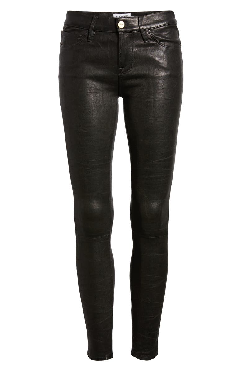 frame 'le skinny' lambskin leather pants  nordstrom
