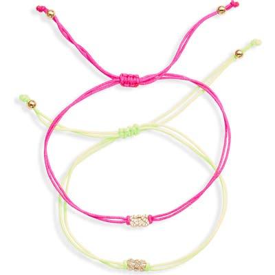 Nordstrom 2-Pack Cubic Zirconia Charm Friendship Bracelets
