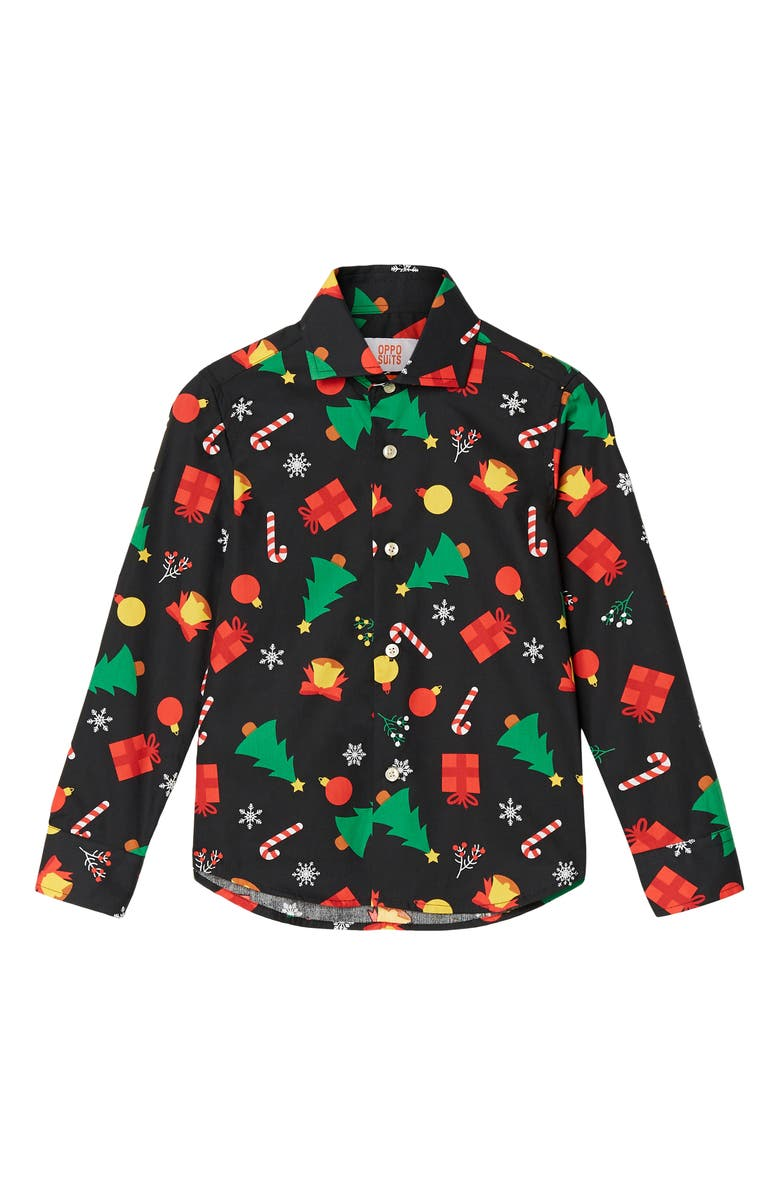 OPPOSUITS Christmas Icons Shirt, Main, color, BLACK