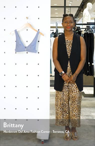 Button Rib Triangle Bikini Top, sales video thumbnail