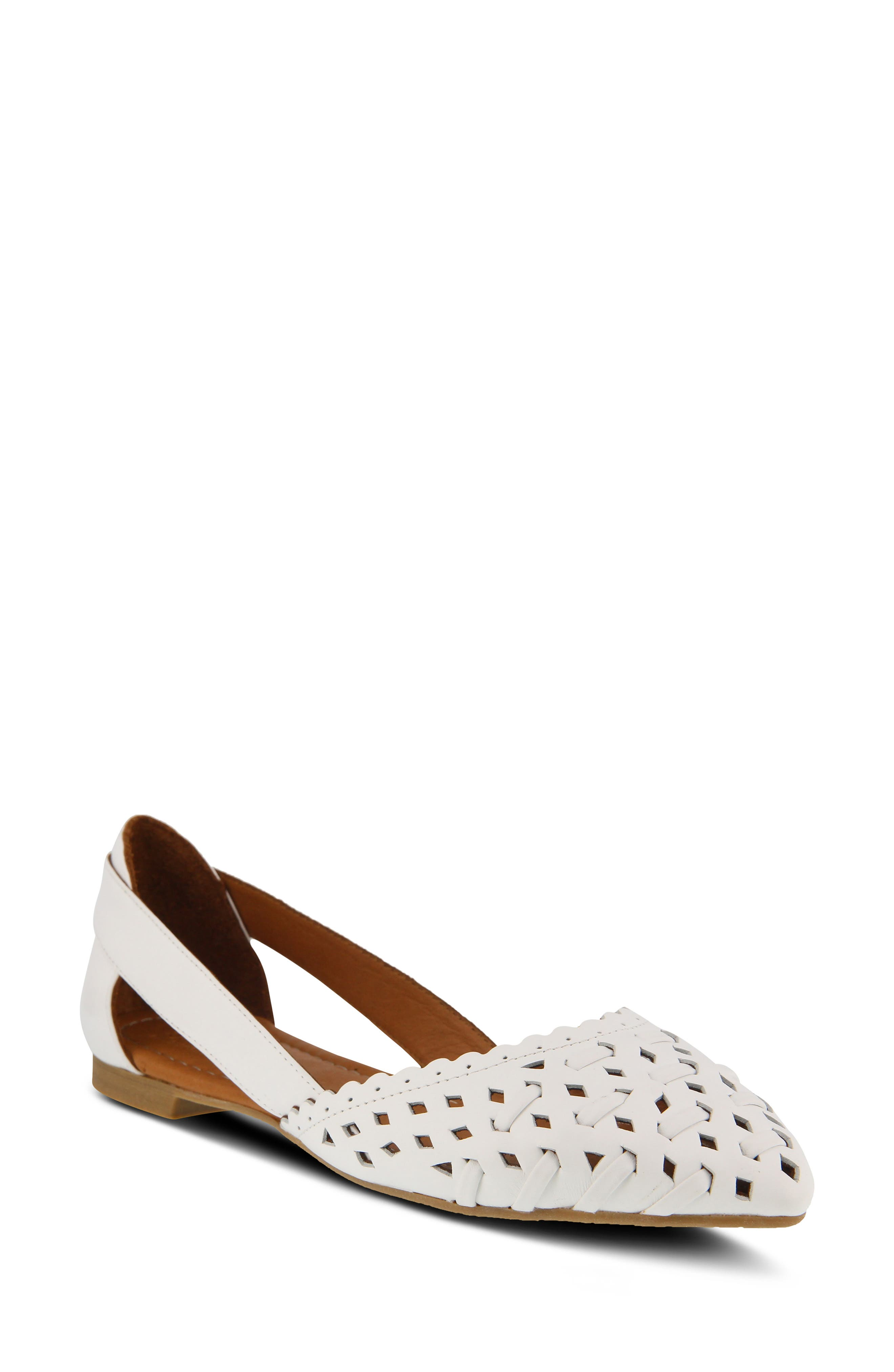 Spring Step Delorse Flat - White
