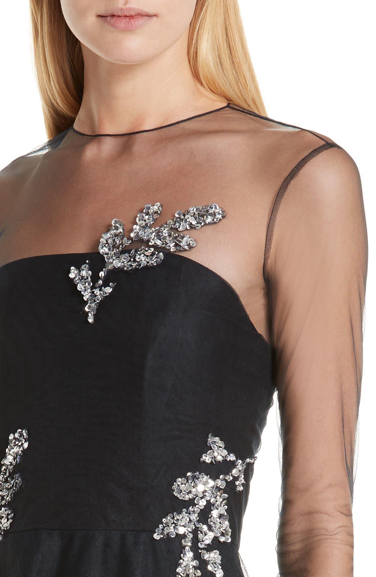 ,                             Drs Candille Fit & Flare Dress,                             Alternate thumbnail 4, color,                             001