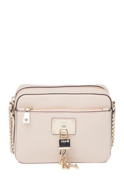 Image of DKNY Elissa Pebbled Leather Crossbody Bag