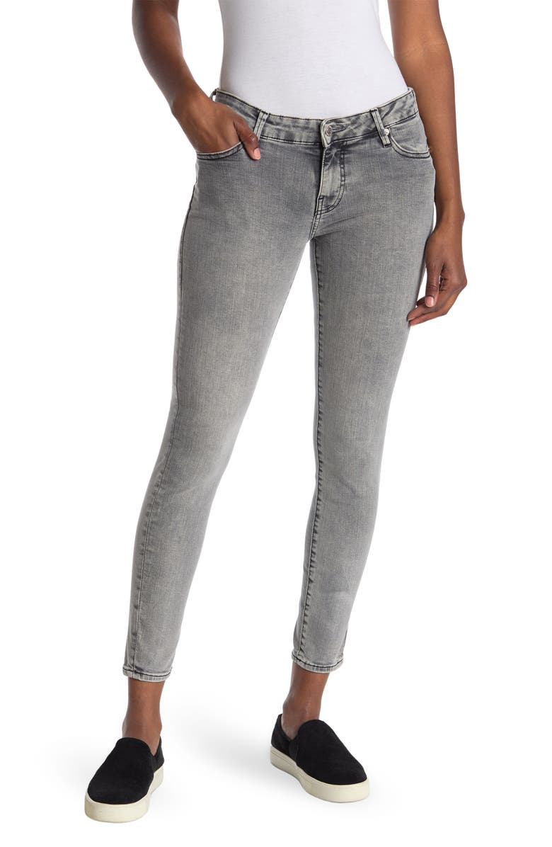 TRUE RELIGION Halle Skinny Jeans, Main, color, WASHED GREY