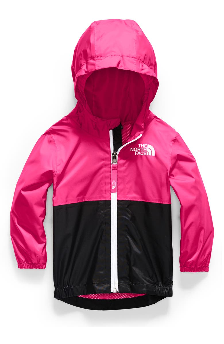 THE NORTH FACE Zipline Hooded Rain Jacket, Main, color, MR. PINK