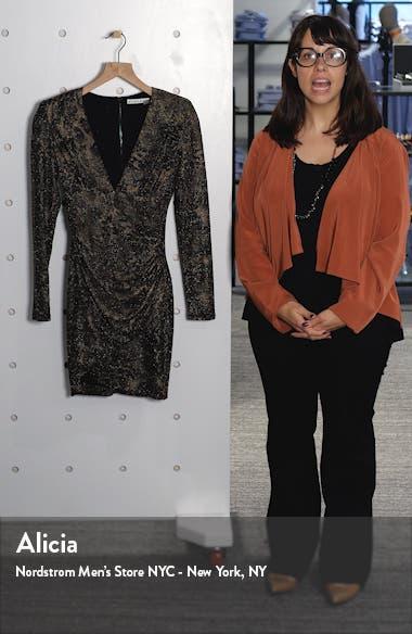 Diaz Plunge Neck Ruched Long Sleeve Minidress, sales video thumbnail
