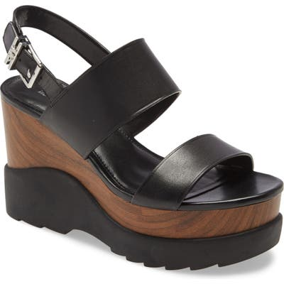Michael Michael Kors Rhett Wedge Sandal- Black
