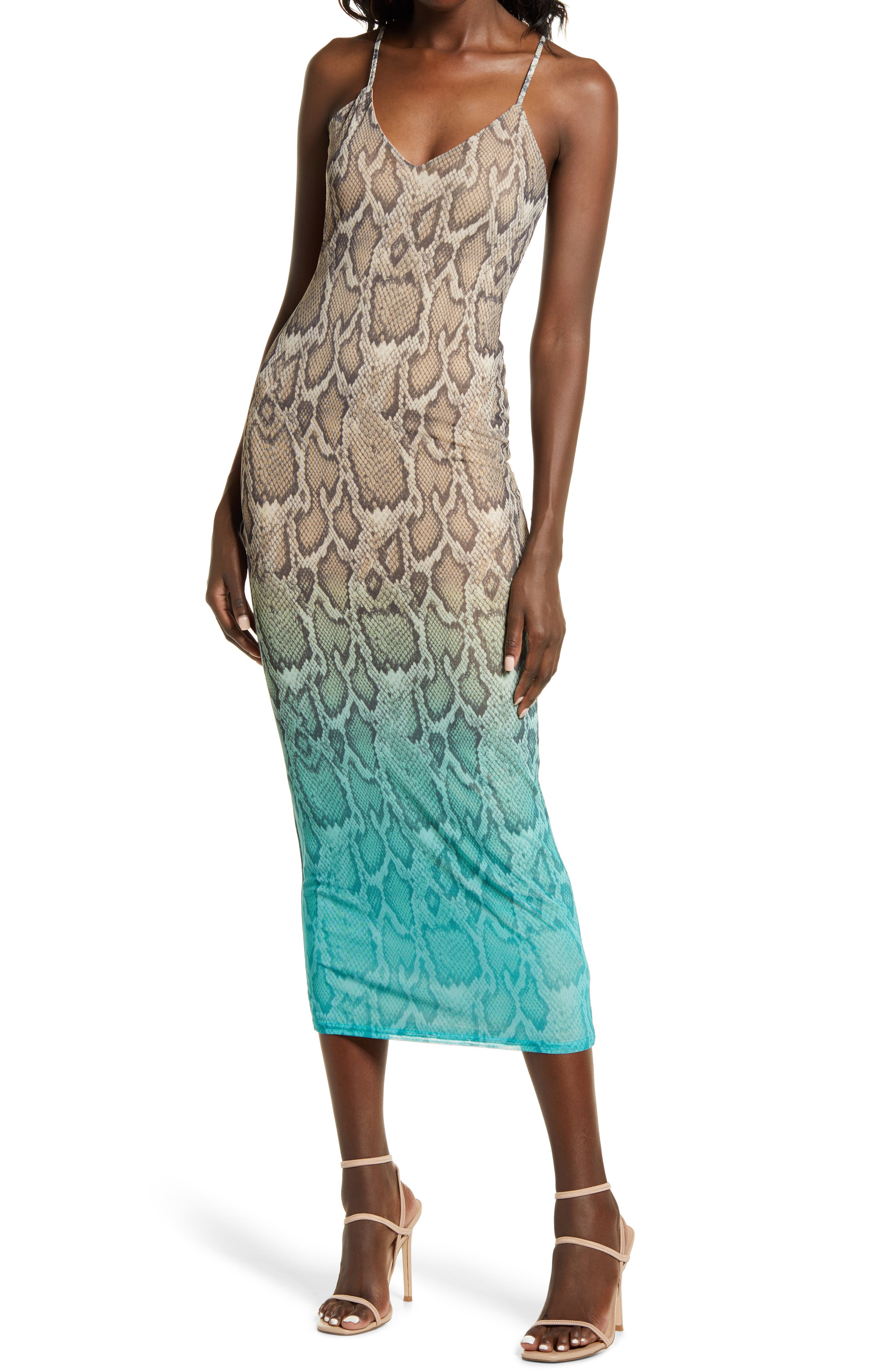 Amina Sleeveless Midi Dress