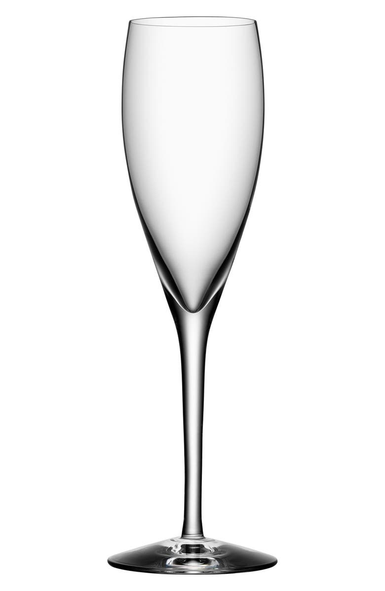 ORREFORS 'More' Champagne Flutes, Main, color, WHITE