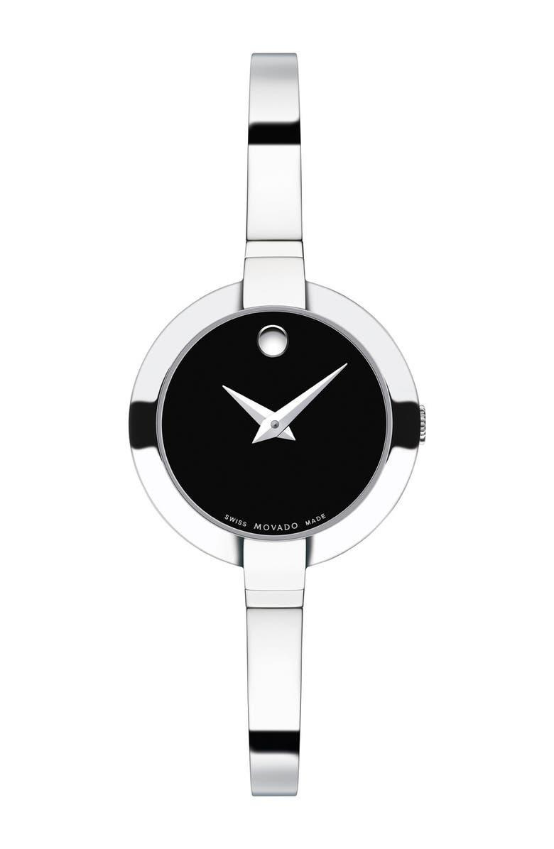 MOVADO 'Bela' Bangle Watch, 25mm, Main, color, 040