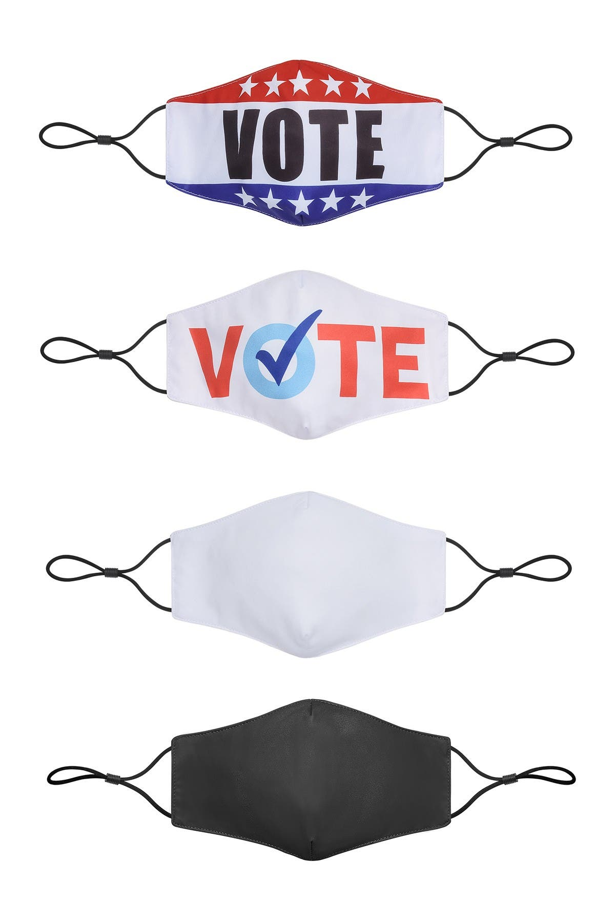 Image of Posh Mask Vote Assorted Non-Medical Unisex Adult Face Masks - Pack of 4