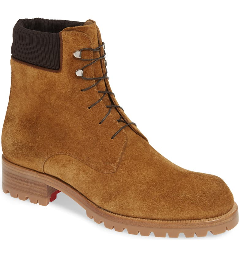 CHRISTIAN LOUBOUTIN Trapman Hiking Boot, Main, color, TERRA BROWN