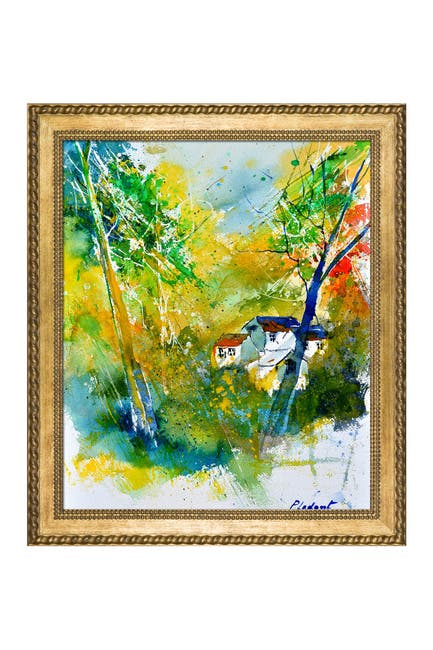 """Image of Overstock Art Watercolor 115021 with Verona Gold Braid Frame - 24.75"""" x 28.75"""""""