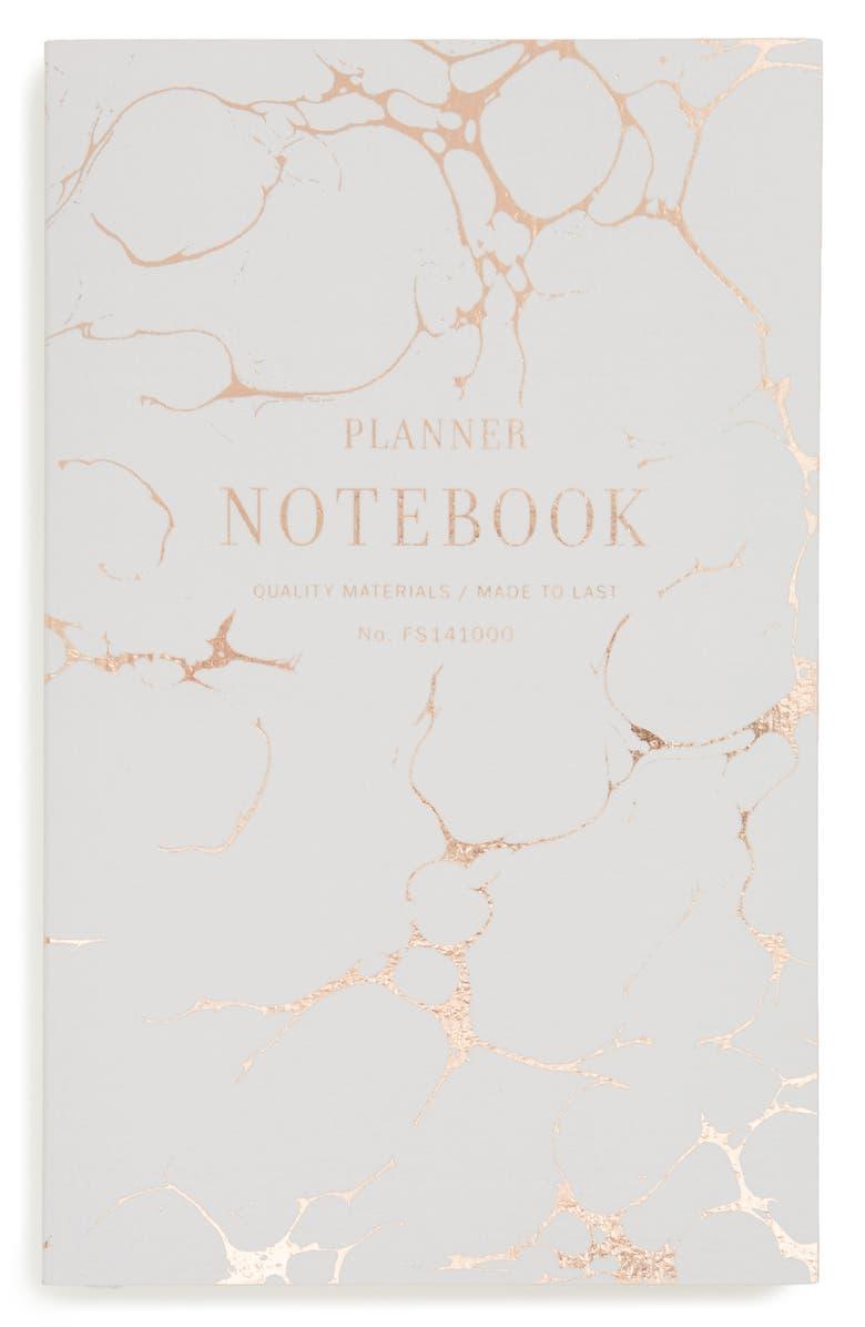 FRINGE STUDIO Grey Marble Planner Notebook, Main, color, 020