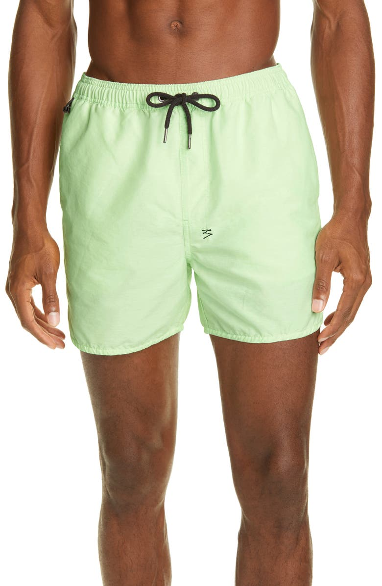 KSUBI Cotton & Nylon Swim Trunks, Main, color, GREEN