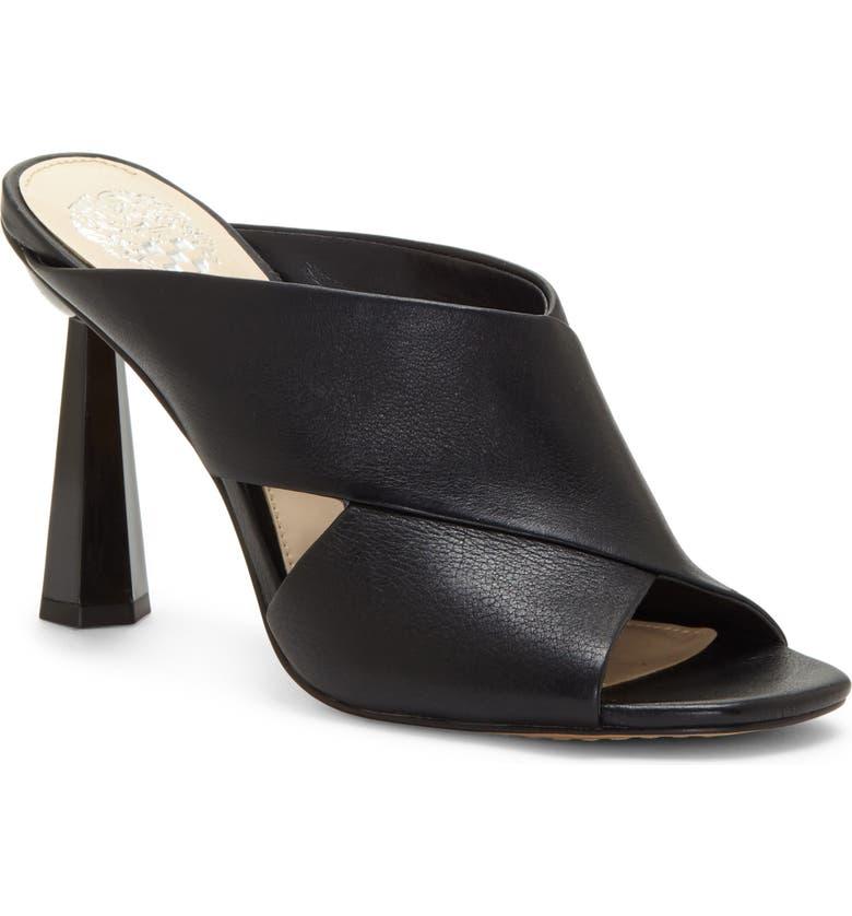 VINCE CAMUTO Averessa Slide Sandal, Main, color, BLACK LEATHER