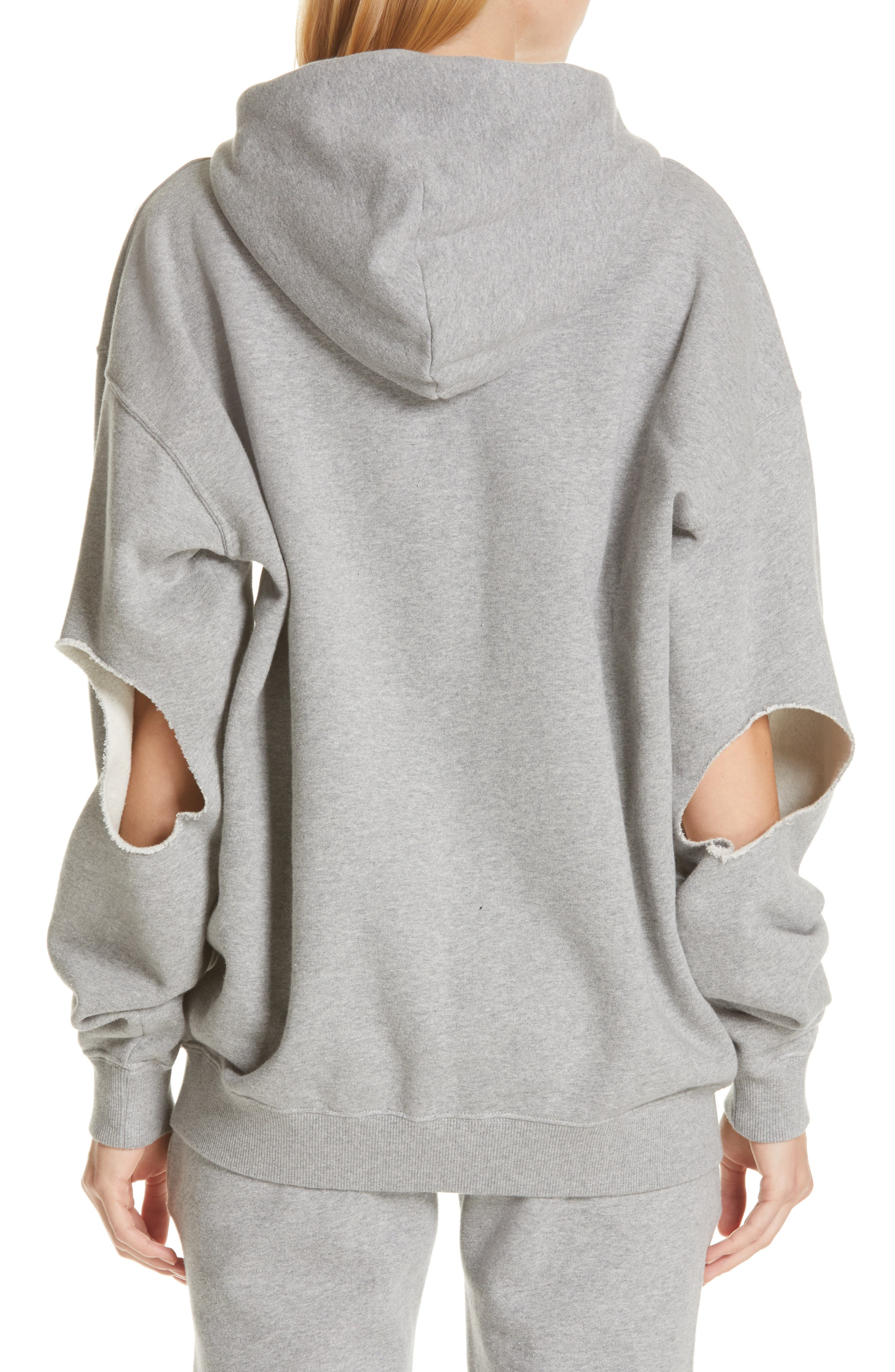 ,                             Elbow Cutout Hoodie,                             Alternate thumbnail 2, color,                             GREY