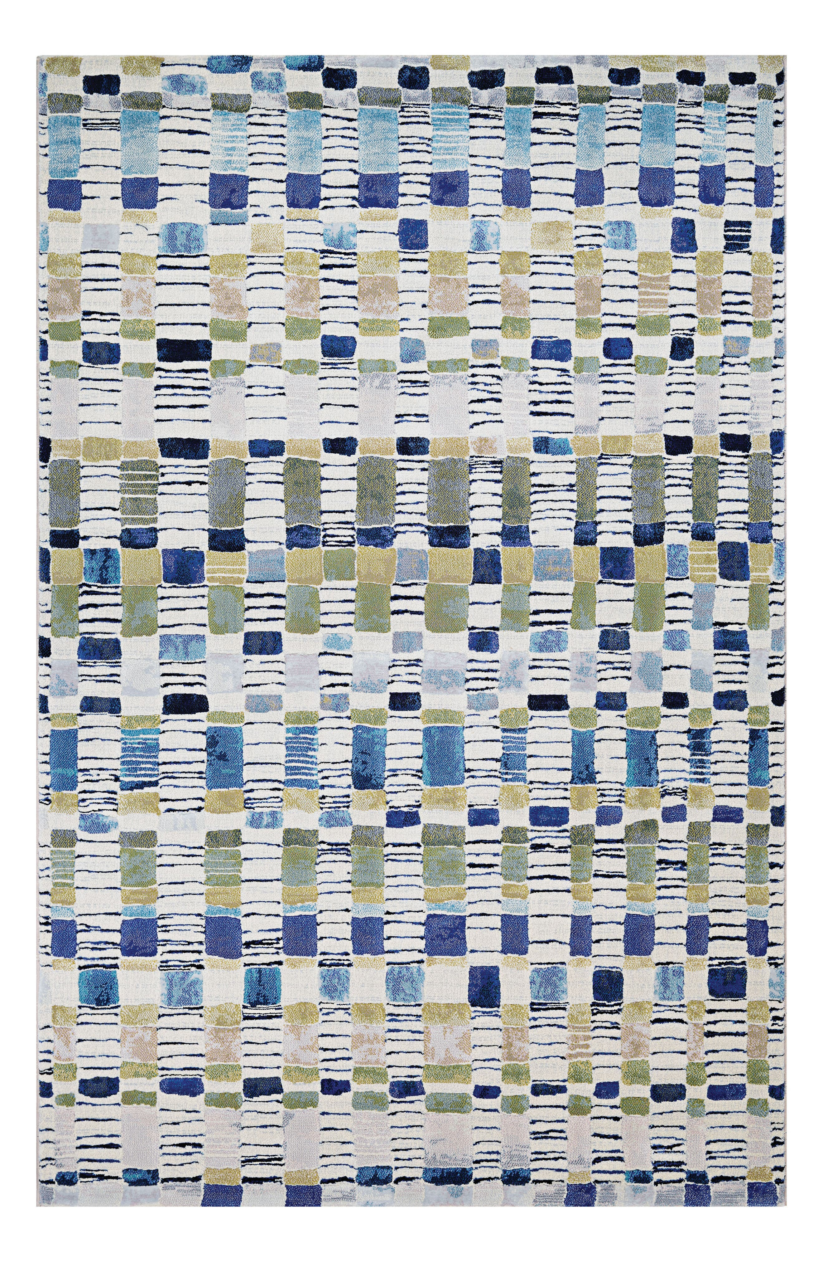 Artful checks add country charm to a versatile rug power-loomed in fade-resistant polypropylene, making it great for high-traffic areas both inside and outside. Style Name: Couristan Surrey Indoor/outdoor Rug. Style Number: 5366824. Available in stores.