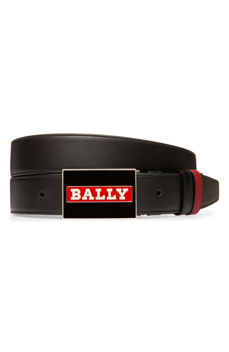 BALLY Ranger Reversible Leather Belt, Main, color, BLACK