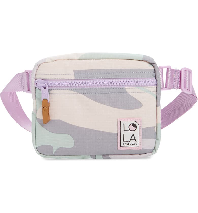 LOLA LOS ANGELES Hippie Belt Bag, Main, color, PASTEL CAMO