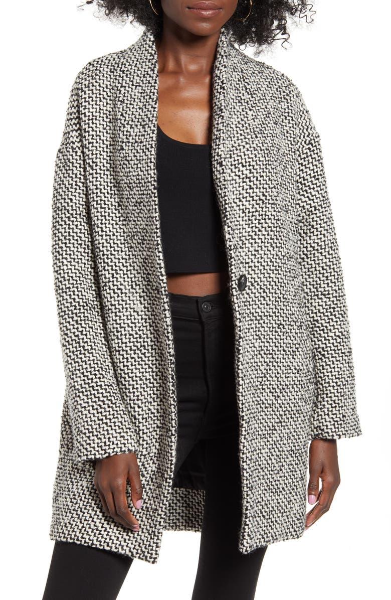 BLANKNYC Say Anything Tweed Coat, Main, color, SAY ANYTHING