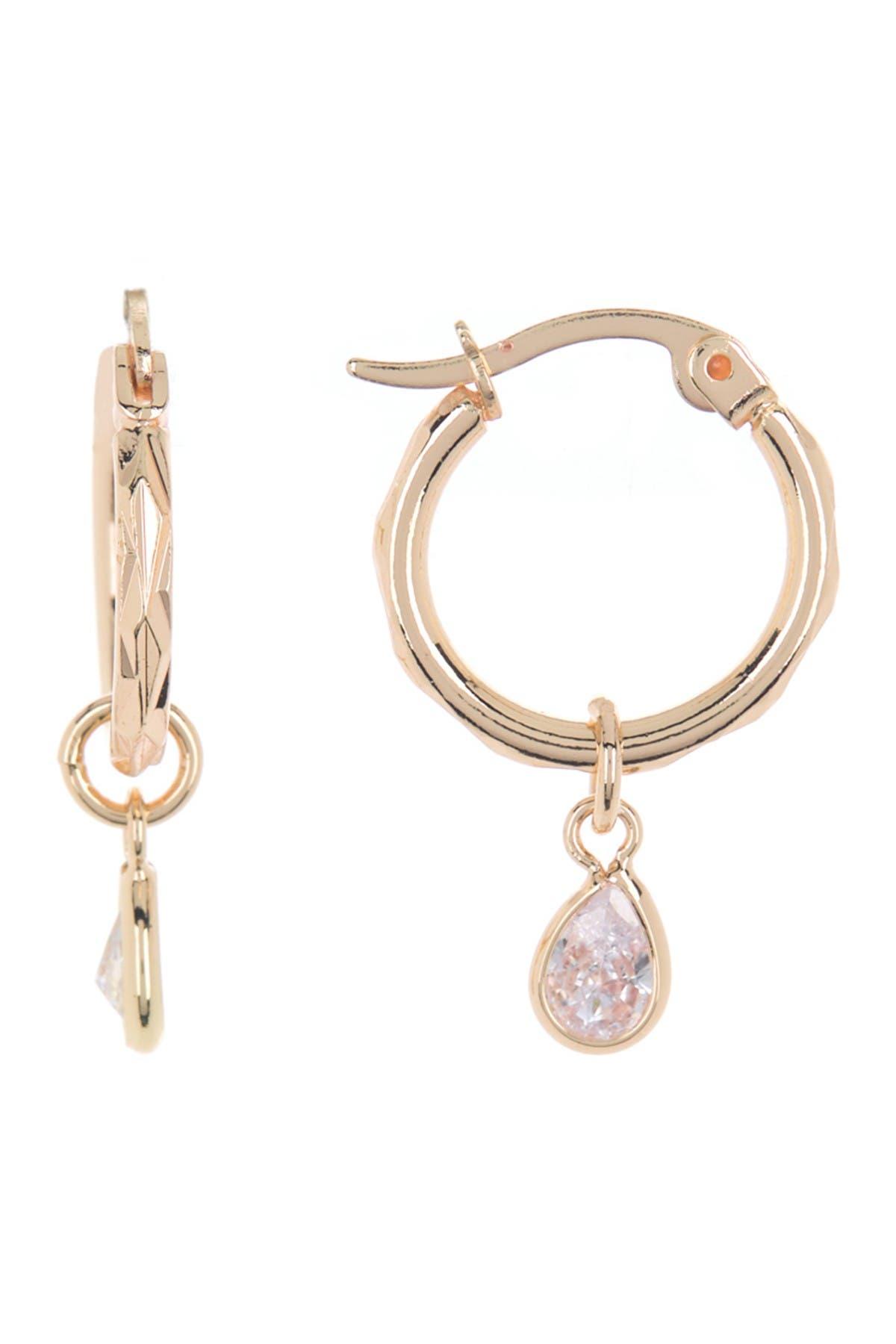 pear drop 12mm huggie earrings