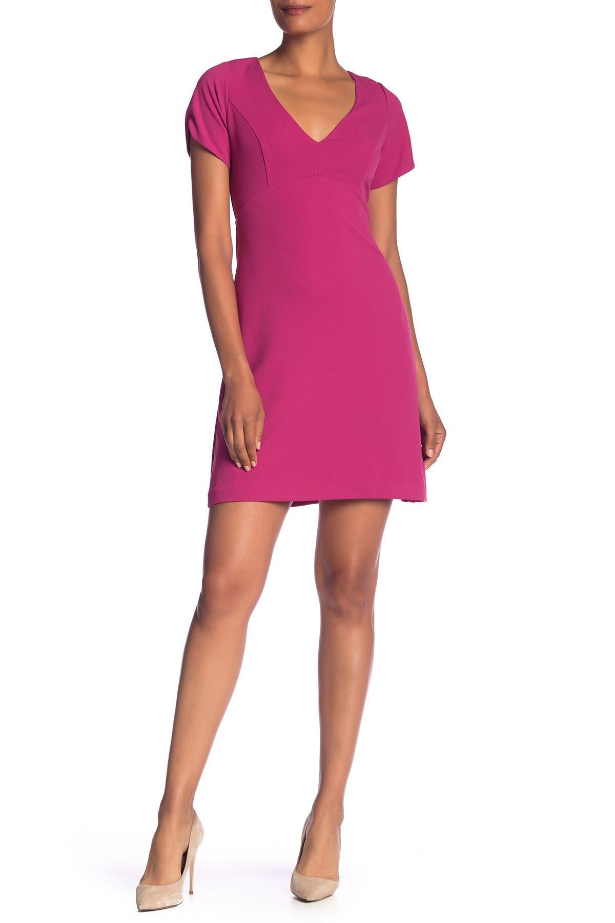 Image of Betsey Johnson V-Neck Crepe Dress