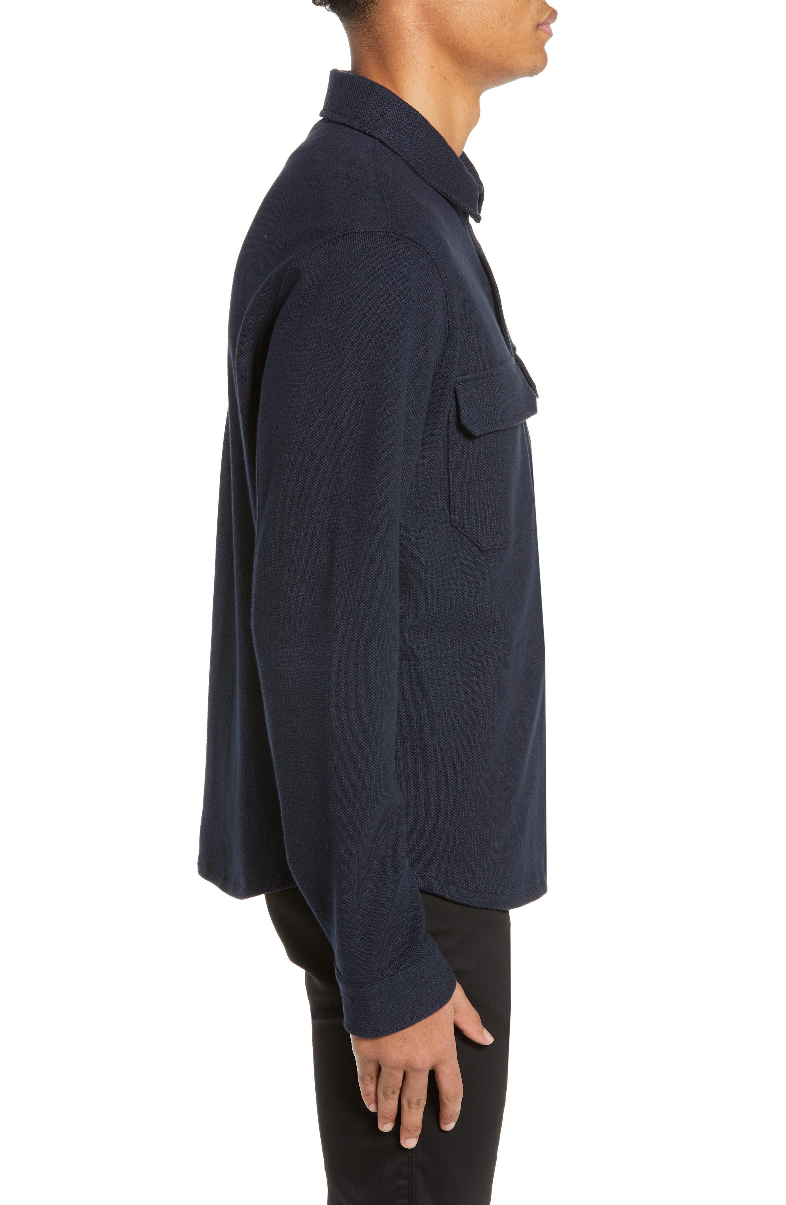 ,                             Slim Fit Shirt Jacket,                             Alternate thumbnail 4, color,                             COASTAL