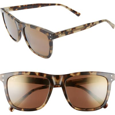 Maui Jim Velzyland 5m Polarizedplus2 Square Sunglasses - Olive Tortoise/ Hcl Bronze