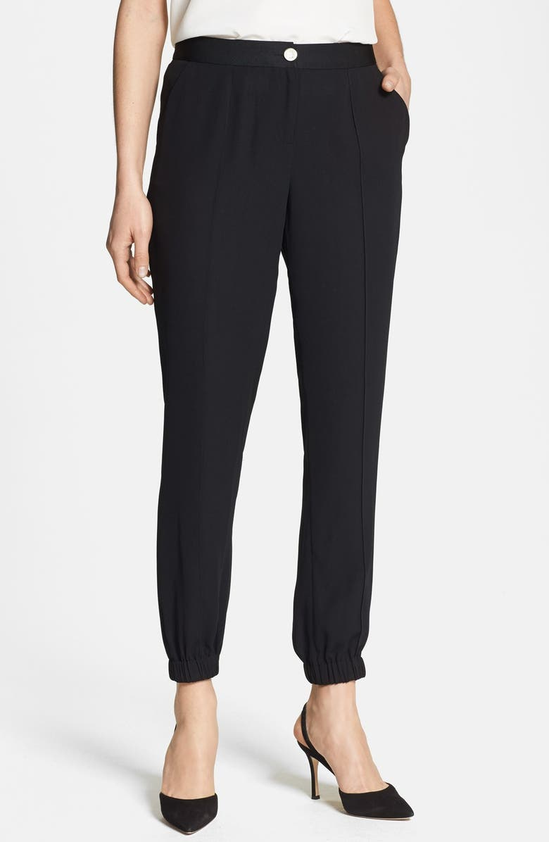 TED BAKER LONDON Crepe Ankle Pants, Main, color, 001