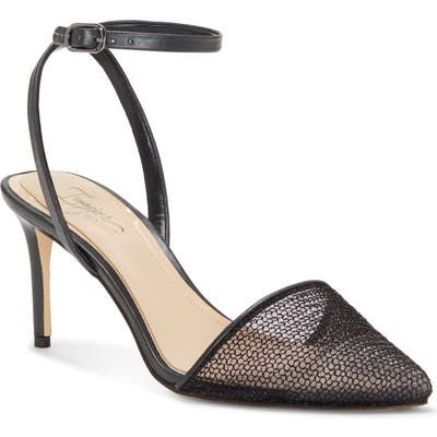 Imagine Vince Camuto Maive Mesh Pointy Toe Pump, Black