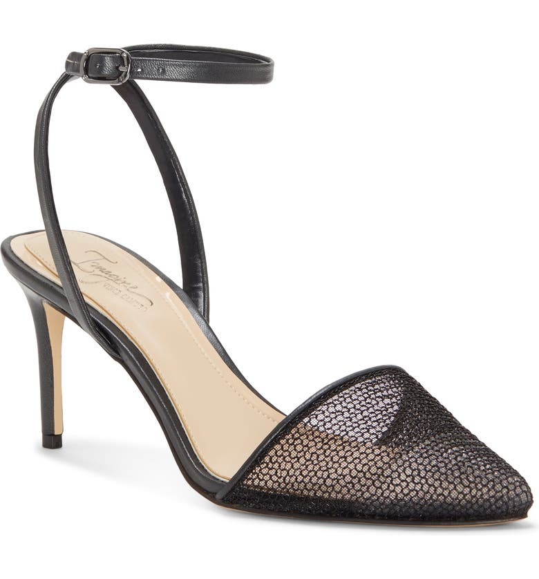 IMAGINE BY VINCE CAMUTO Imagine Vince Camuto Maive Mesh Pointy Toe Pump, Main, color, BLACK SATIN