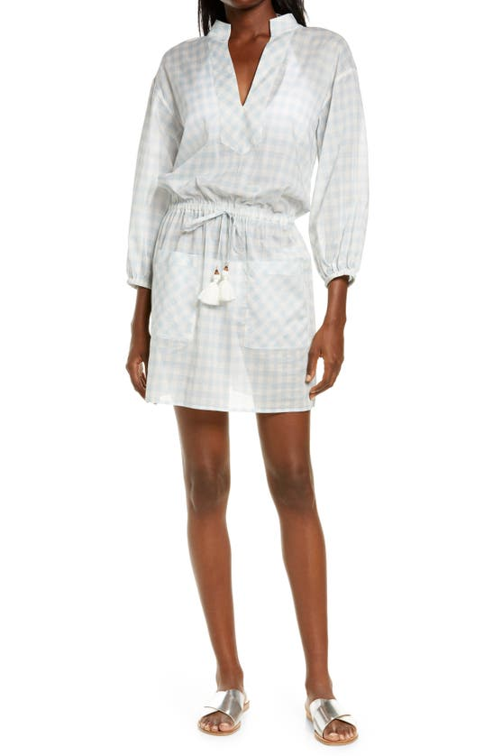Tory Burch GINGHAM COVER-UP TUNIC DRESS