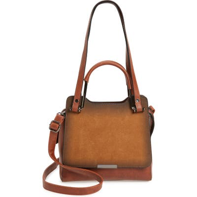 Knotty Faux Leather Satchel - Brown