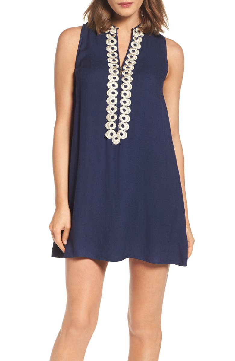 LILLY PULITZER<SUP>®</SUP> Jane Shift Dress, Main, color, TRUE NAVY