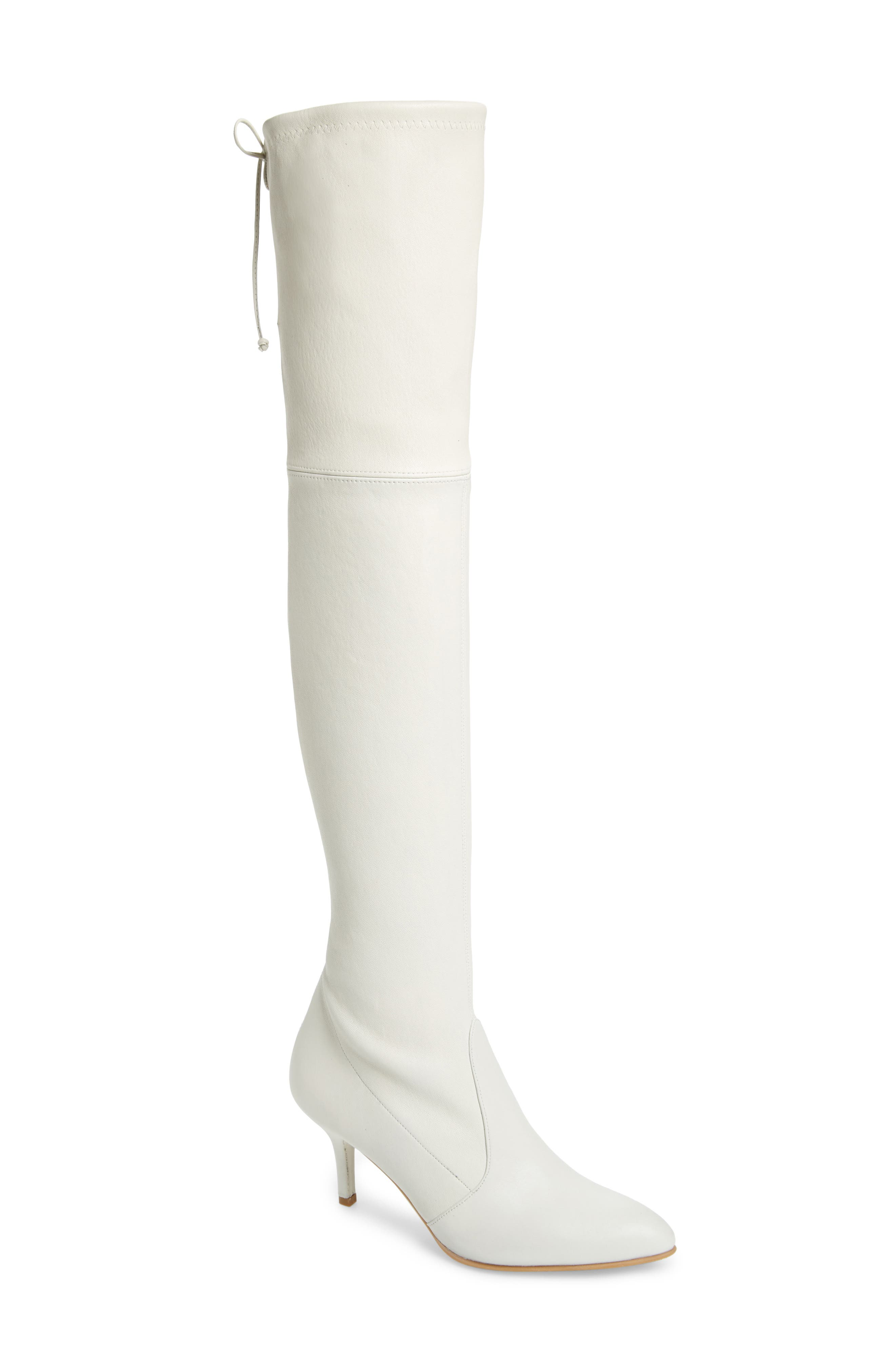 Image of Stuart Weitzman Tiemodel Over-the-Knee Stretch Boot - Multiple Widths Available