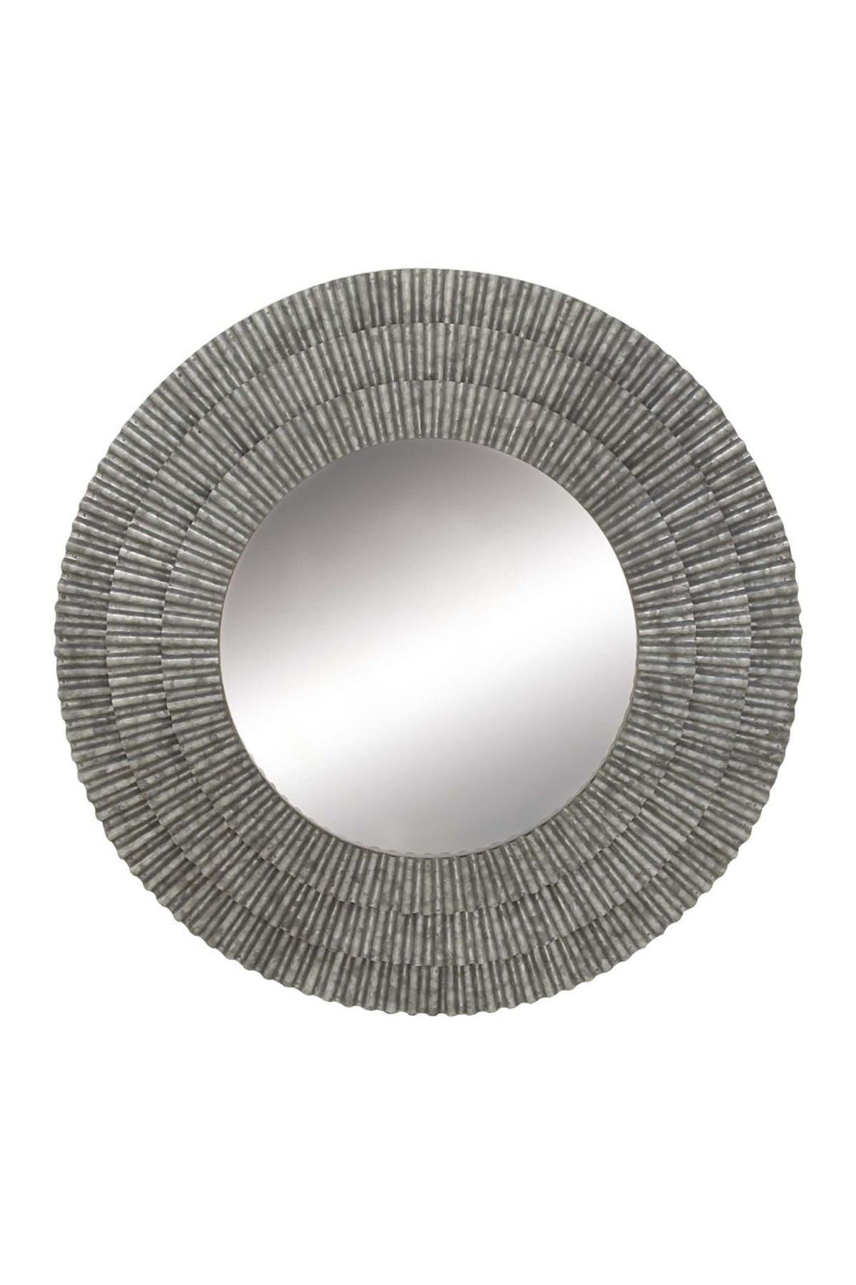 """Image of Willow Row Currugated Metal Wall Mirror - 37"""""""