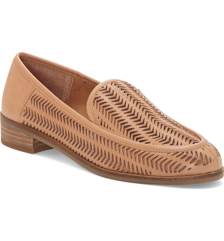 LUCKY BRAND Camdyn Cutout Loafer, Main, color, LATTE LEATHER