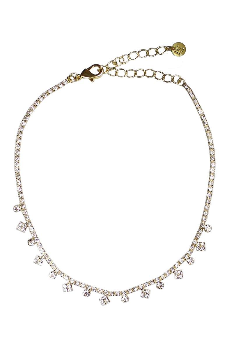 JULES SMITH Gemma Crystal Choker, Main, color, GOLD/ CLEAR