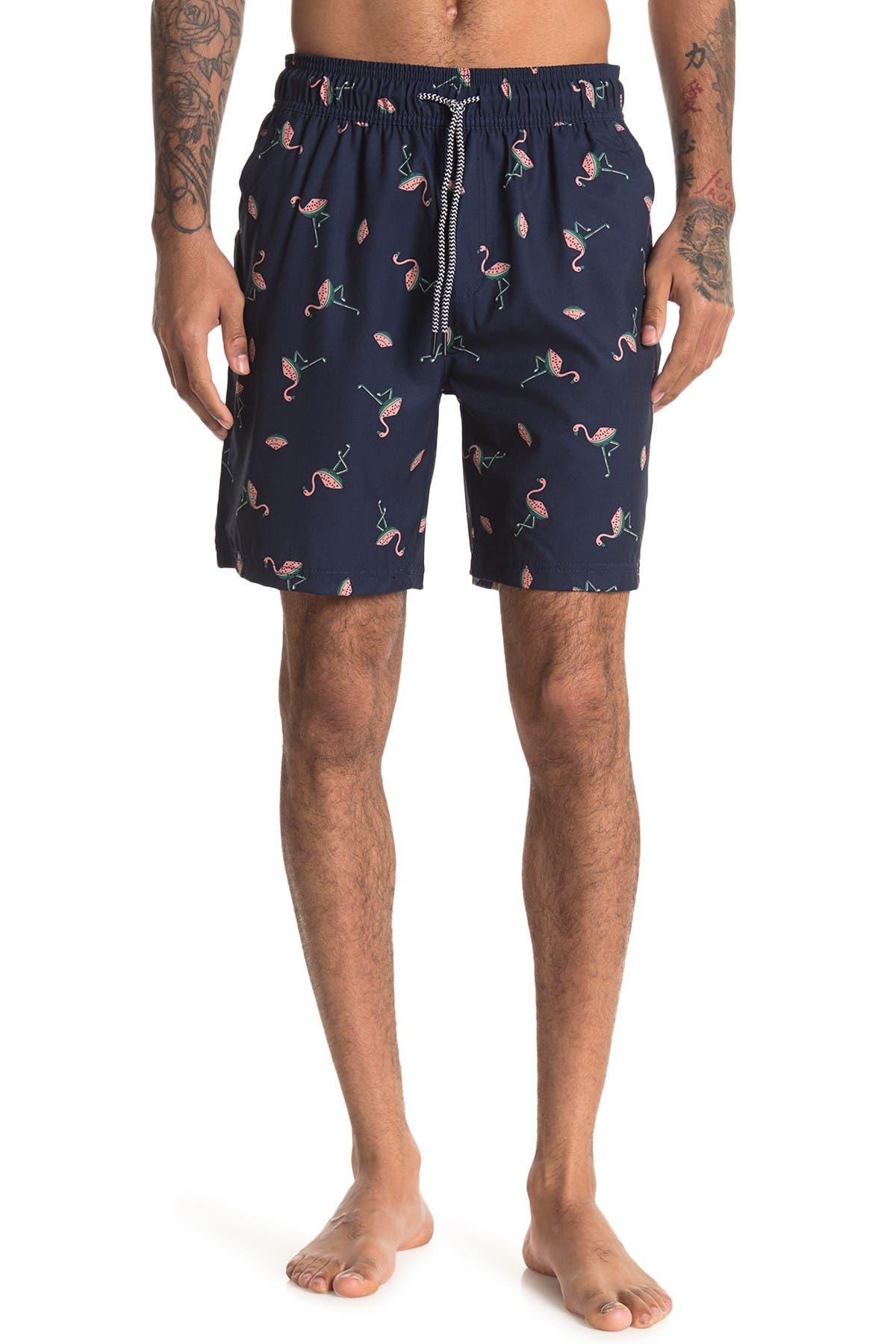 Image of Sovereign Code Dune Patterned Swim Shorts