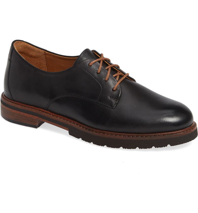 SAMUEL HUBBARD All Aboard Derby, Main, color, BLACK LEATHER