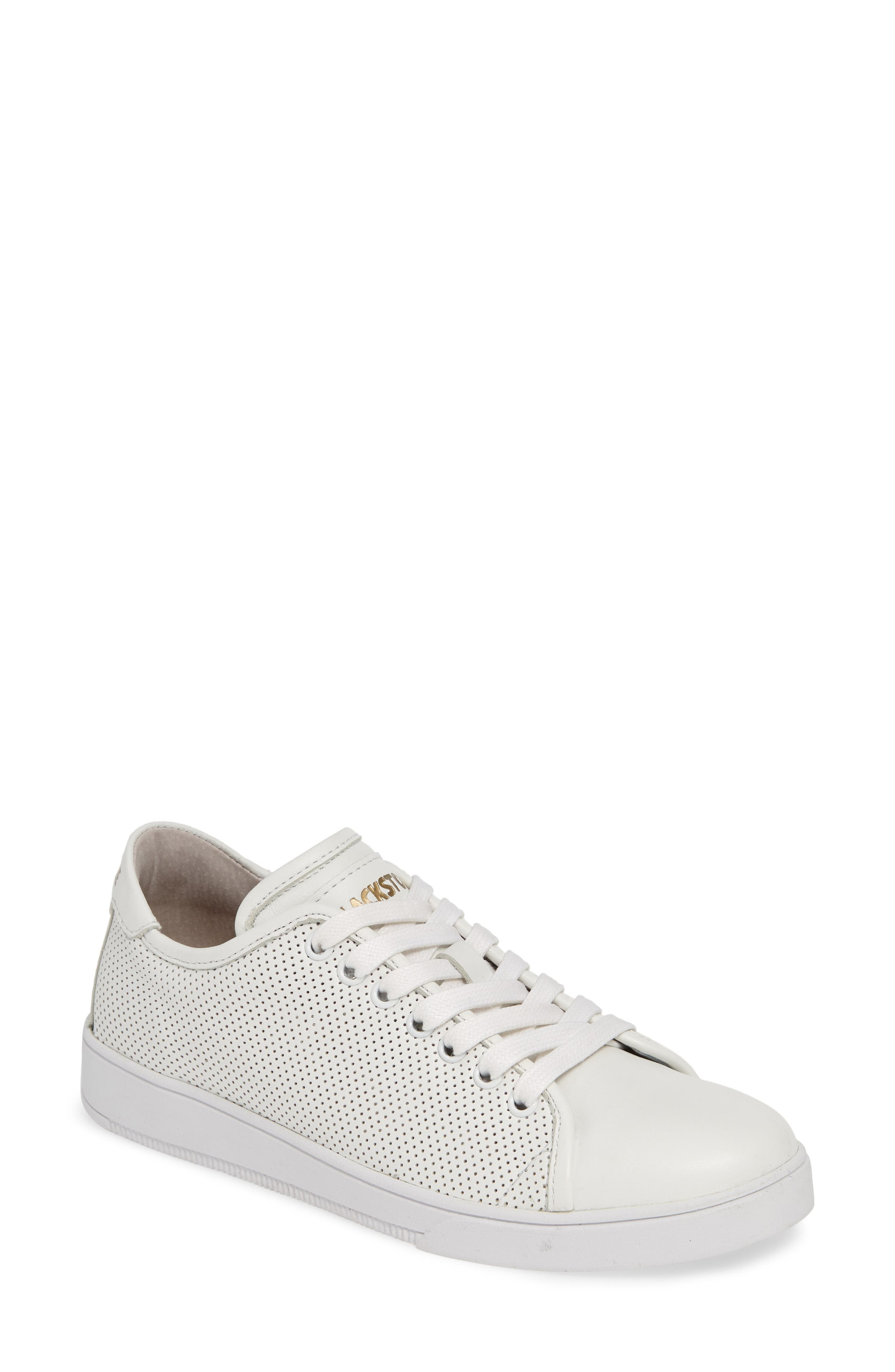 Blackstone Rl72 Perforated Low Top Sneaker, Ivory