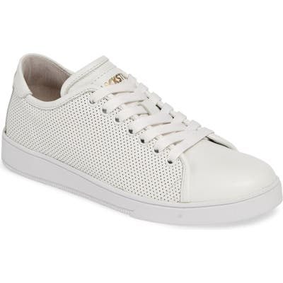 Blackstone Rl72 Perforated Low Top Sneaker, Ivory