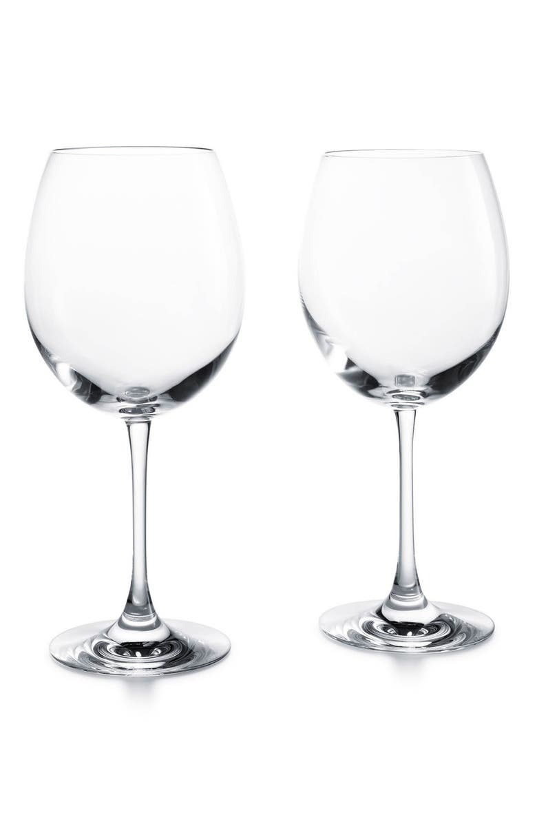 BACCARAT Chateau Baccarat Degustation Set of 2 Lead Crystal Tasting Glasses, Main, color, CLEAR