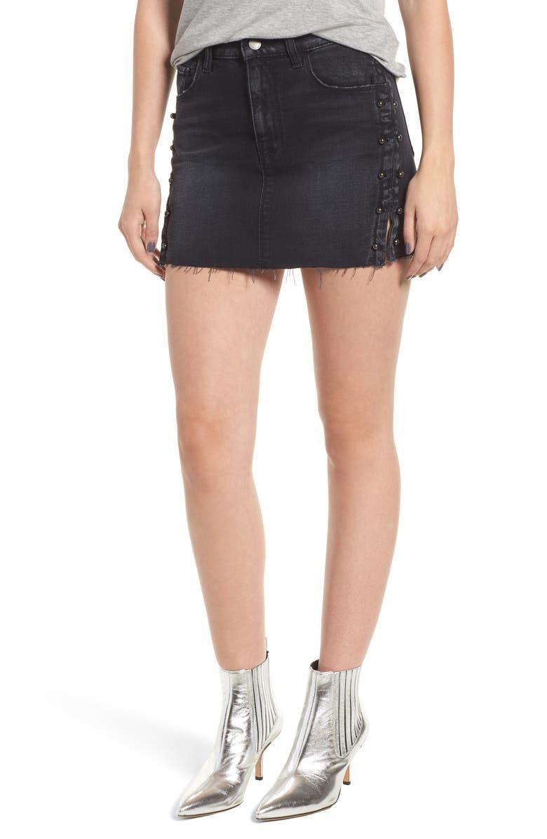 95841adc2 Hudson Jeans The Viper Pierced Cutoff Denim Miniskirt | Nordstrom