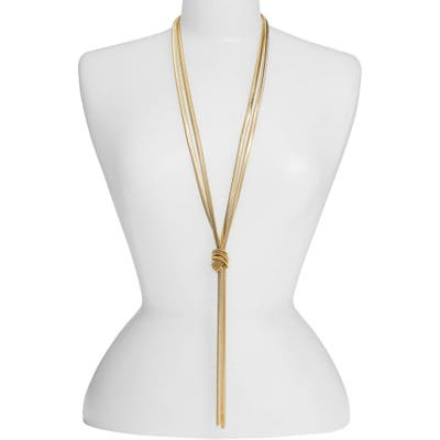 Lisa Freede Cooper Knot Lariat Necklace