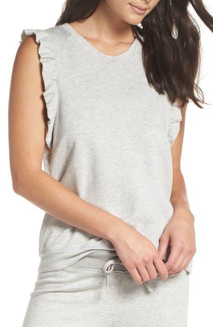 Image of David Lerner Sleeveless Ruffle Pullover