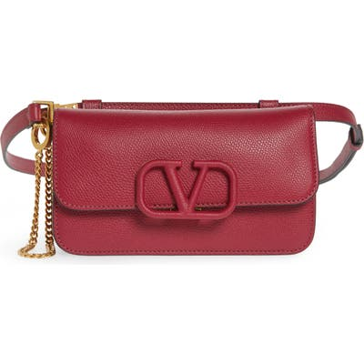 Valentino Garavani V-Sling Leather Belt Bag - Pink