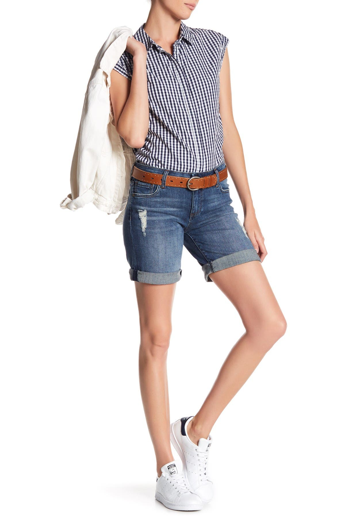 Image of KUT from the Kloth Katy Boyfriend Bermuda Shorts