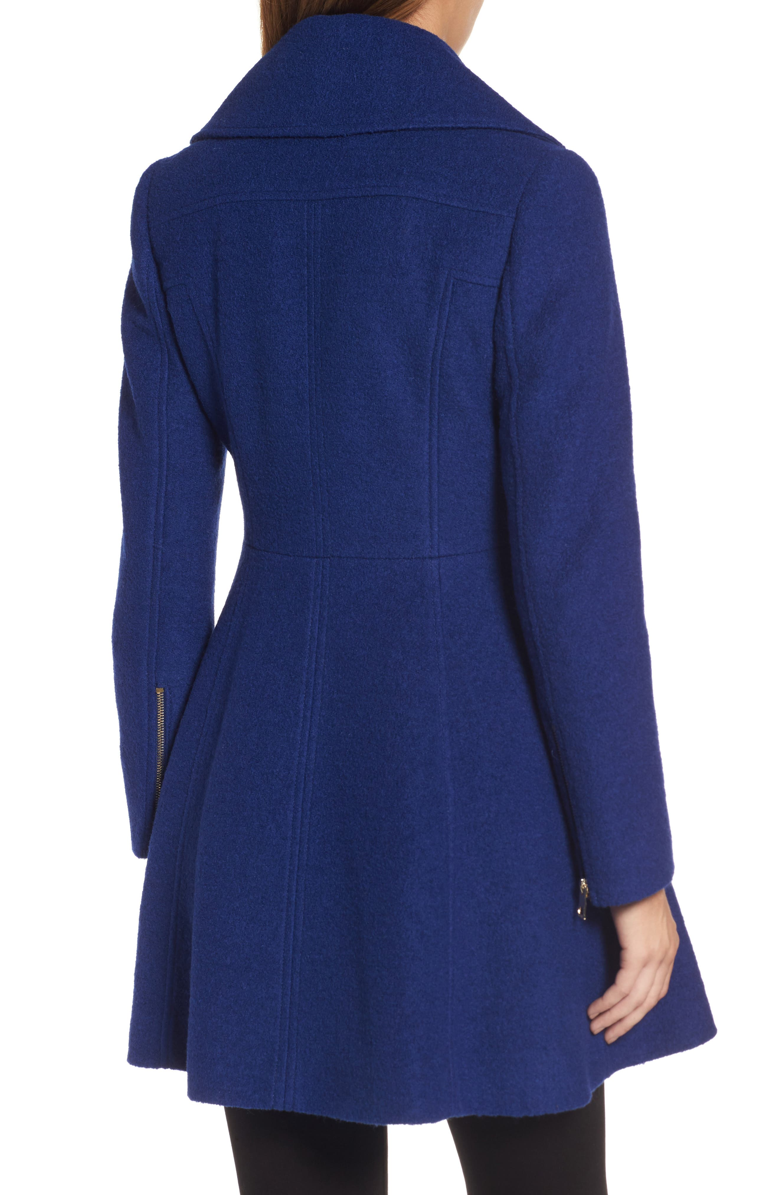 ,                             Envelope Collar Double Breasted Coat,                             Alternate thumbnail 12, color,                             433